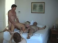 2 nasty swinger wives double ended by husbands