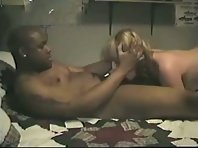 Blonde milf wife being a BBC-slut for the first time while hubby fims